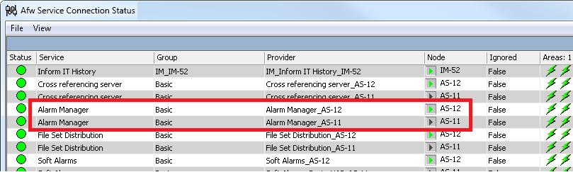 Xybernetics ABB 800xA - Alarm Manager Run Status