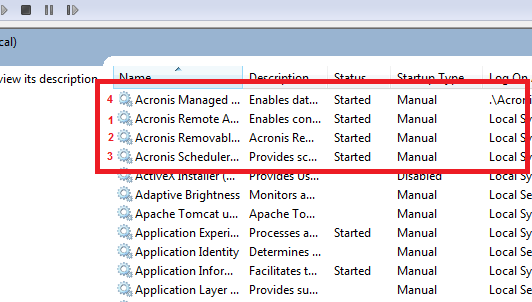 Xybernetics Error Starting the Acronis - Cannot connect to 'localhost'