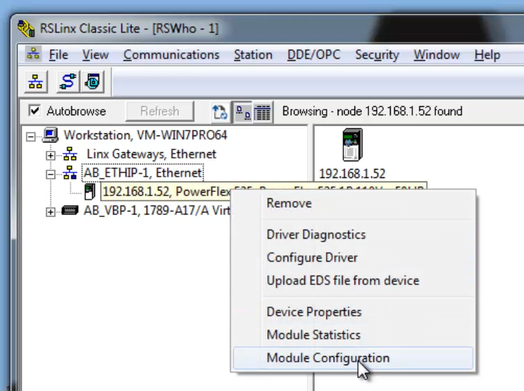 TechTalk - Allen-Bradley : Change IP address For Allen-Bradley PLC Using RSLinx