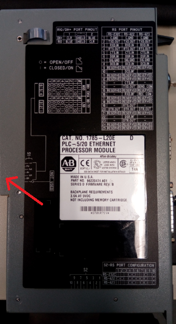 Xybernetics Allen-Bradley PLC-5 - Dip Switches