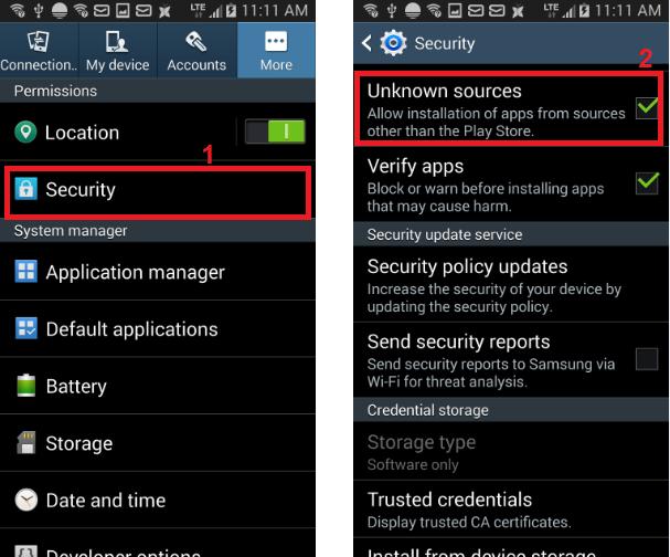 Xybernetics Inc - Android Security Setup