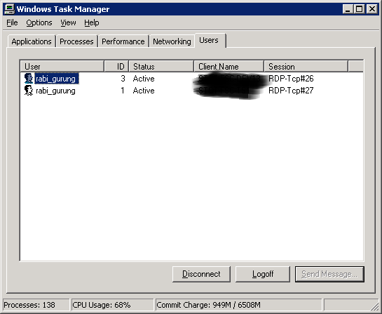 Xybernetics Batch File Remotely Disconnect Users in Another Network Machine