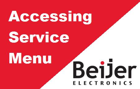 TechTalk - Beijer QTERM : Service Menu