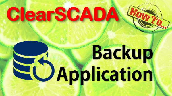 How To Make A Backup Of The ClearSCADA Application