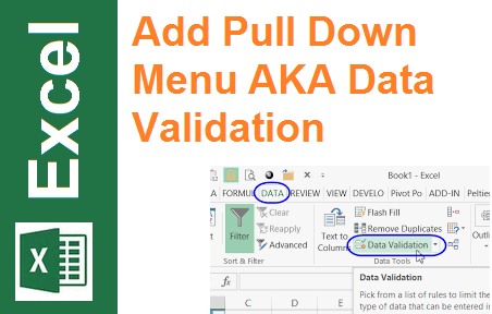 TechTalk - Excel : Add Pull Down Menu In Cell (Data Validation)