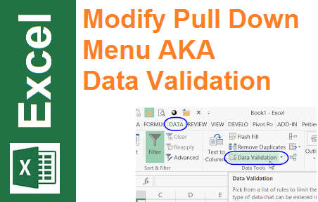 TechTalk - Excel 2013 : Modify Pull Down Menu List (Data Validation)