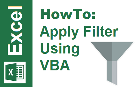 TechTalk - Excel VBA : Filter Using VBA