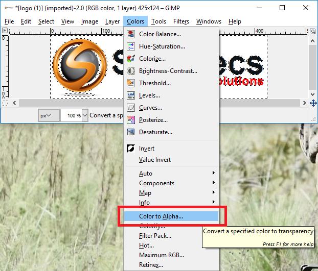 Xybernetics Transparent Background Using GIMP