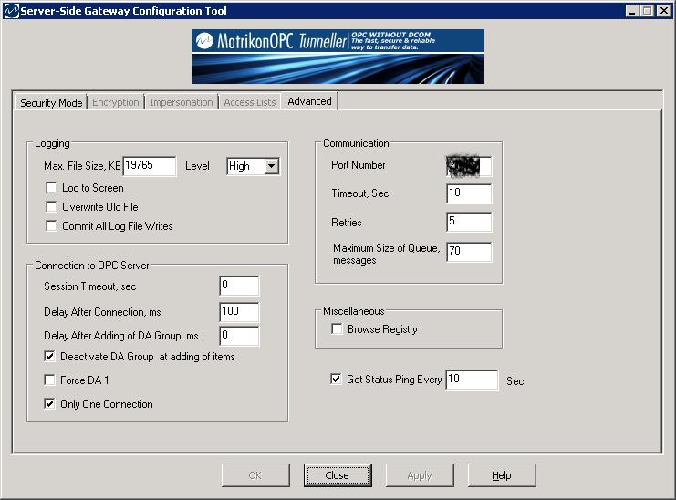 TechTalk : MatrikonOPC Tunneller – Debugging And Log File