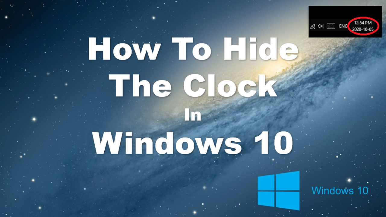 How To Hide The Clock In Windows 10