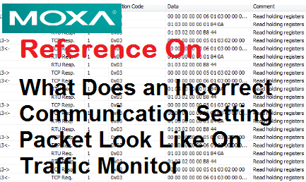 TechTalk - Moxa MB3170 : Traffic Monitor With Incorrect Baudrate