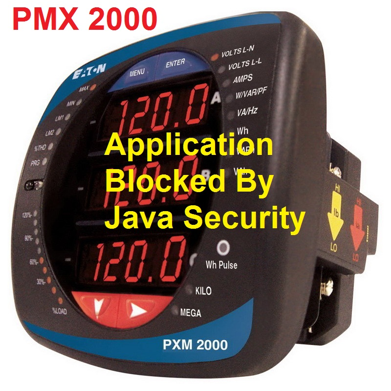 TechTalk - PMX2000 - How-To Cannot Connect To PMX 2000 - Application Blocked By Java Security