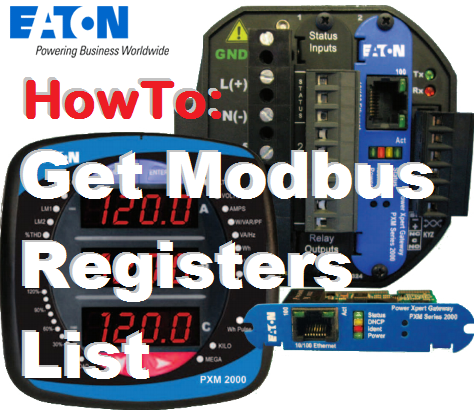 TechTalk - PMX2000 - HowTo Determine Modbus Registers