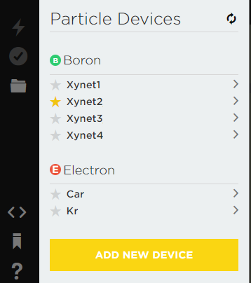 Xybernetics Particle Devices Selection