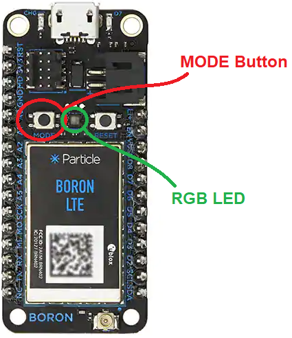 Xybernetics MODE Button And RGB LED