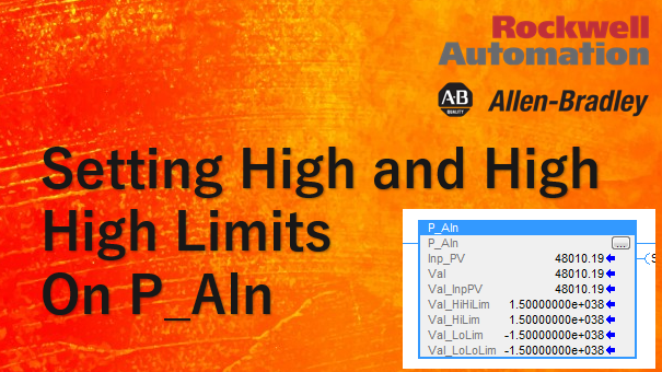 TechTalk - RSLogix : Setting High And High High Limits On P_Aln UDT