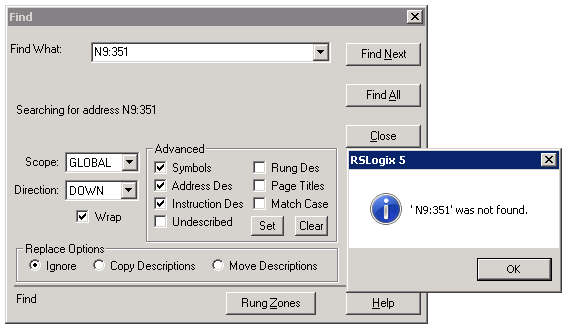 Xybernetics Allen-Bradley RSLogix5 - IO Configuration Not Used Address