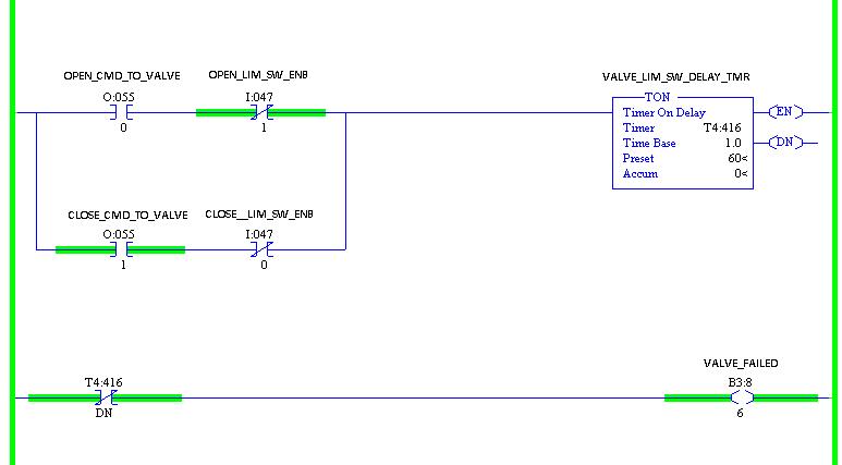 Xybernetics Rockwell RSLogix 5 - Valve Malfunction Check Logic
