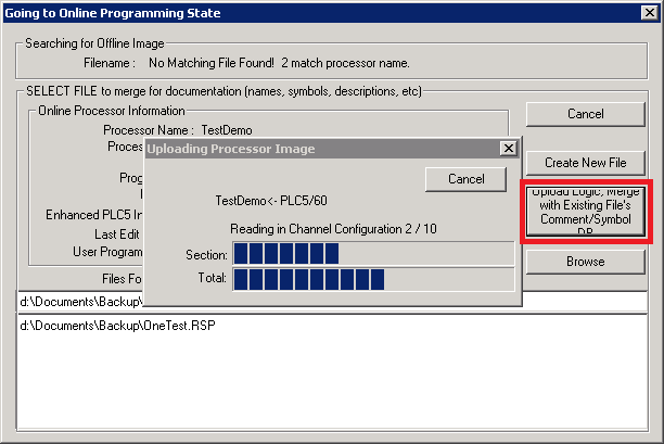 TechTalk : RSLogix 500 – Going Online With Different Logic File