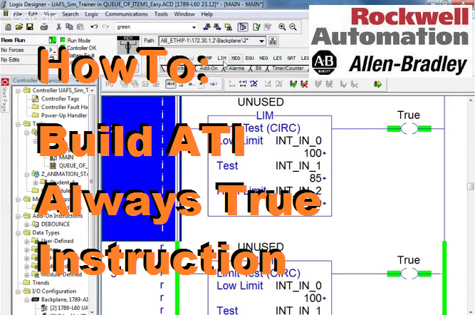 TechTalk - RSLogix 5000 : AFI To ATI Always True Instruction
