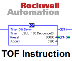 Xybernetics RSLogix5000 : The TOF Instruction