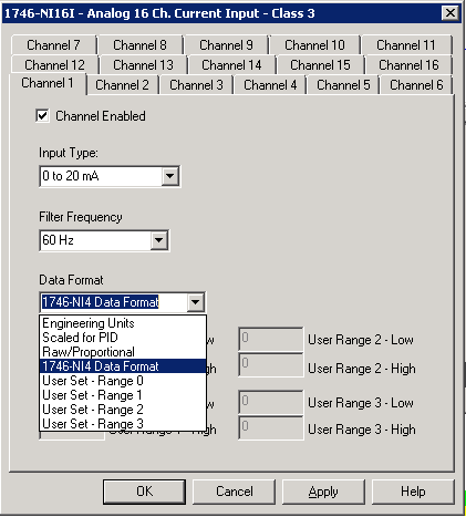 Xybernetics RSlogix500 - Config IO Card (AI)