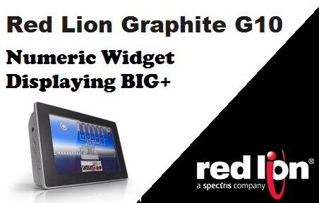 TechTalk - Red Lion : Numeric Widget Showing BIG+