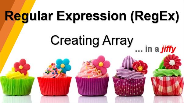 TechTalk - Regular Expression : Regular Expression Using Sublime Tip 01 (Creating Array)