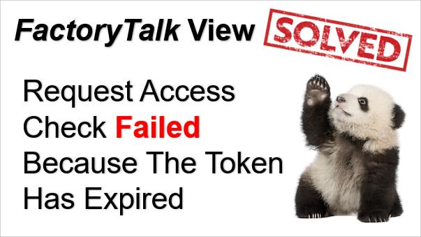 TechTalk - Rockwell : FactoryTalk Token Error