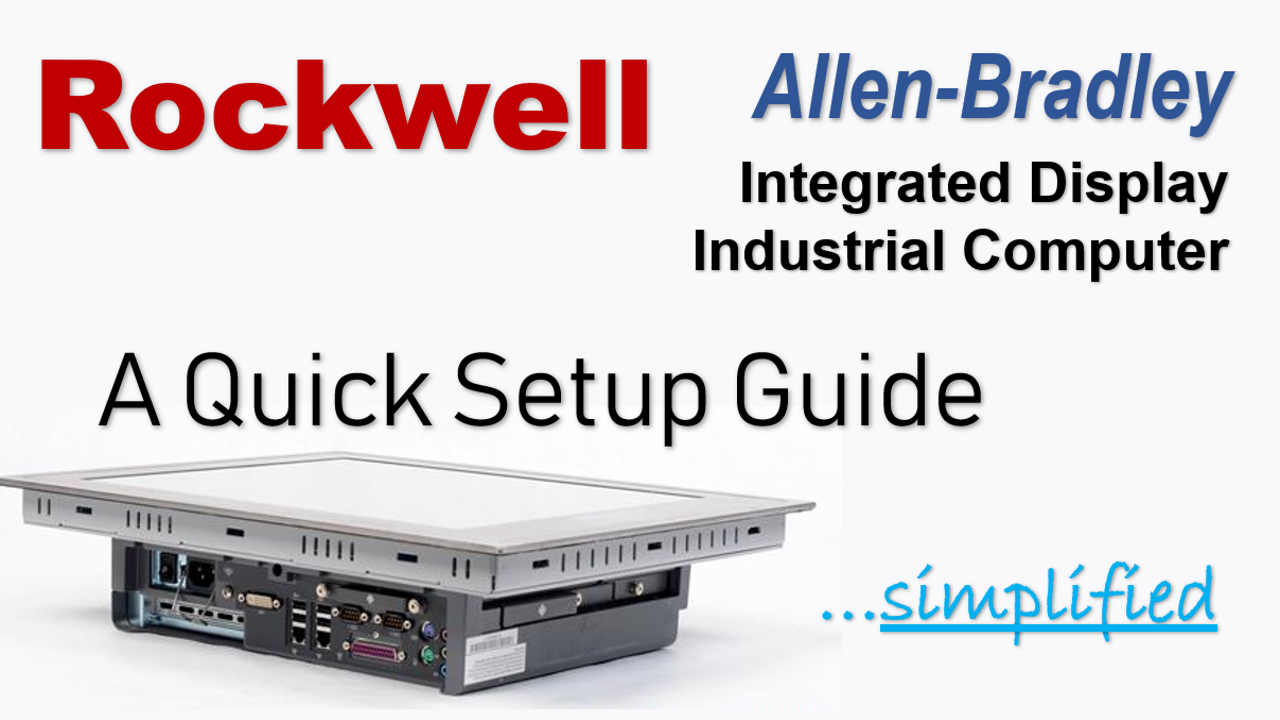 Setup Allen-Bradley 6181P Integrated Display Industrial Computer