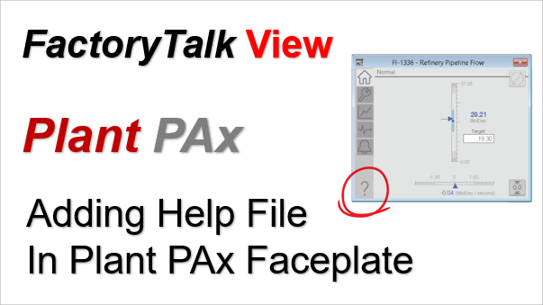 Upload Help Files For Rockwell Plant PAx Faceplates