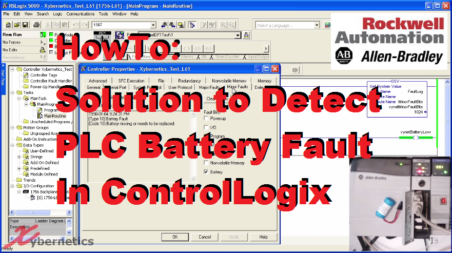 TechTalk Rockwell ControlLogix : How To Monitor PLC Battery Fault