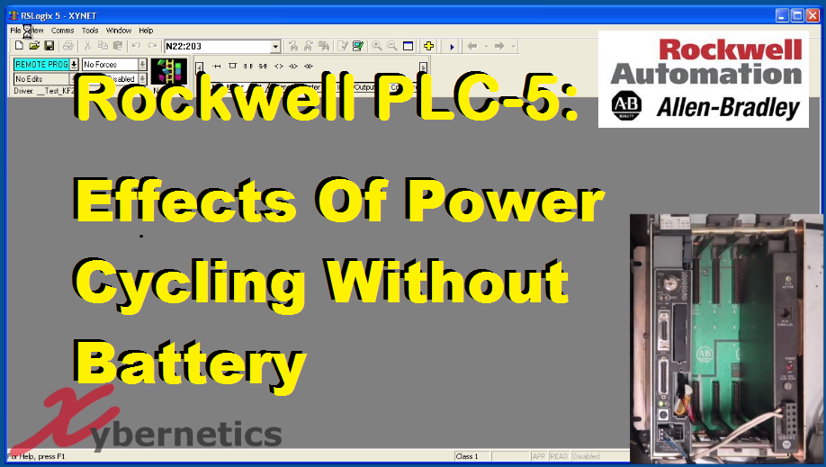 TechTalk - Rockwell PLC5 : Effects Of Power Cycling Without Battery