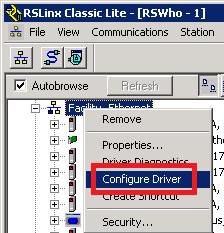 Xybernetics Rockwell RSLinx - Manually Adding PLC IP Address