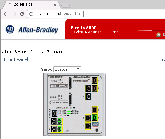 Xybernetics Rockwell Stratix 8000 - Telnet Access