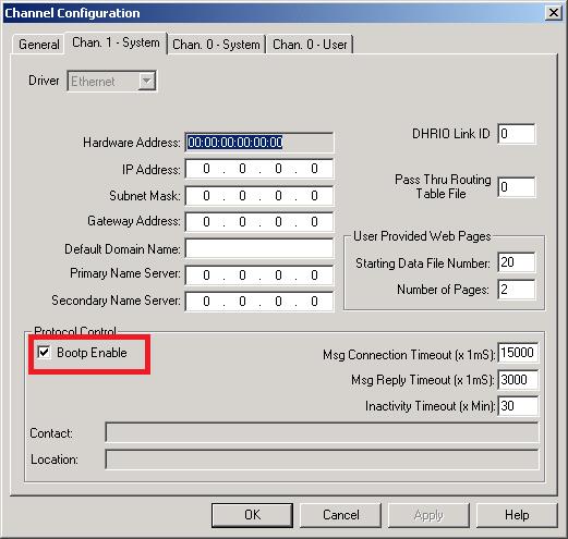 Xybernetics SLC 500 - Channel Allocation