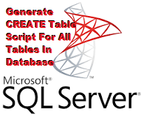 TechTalk - SQL : Generate CREATE Script For All Tables In Database