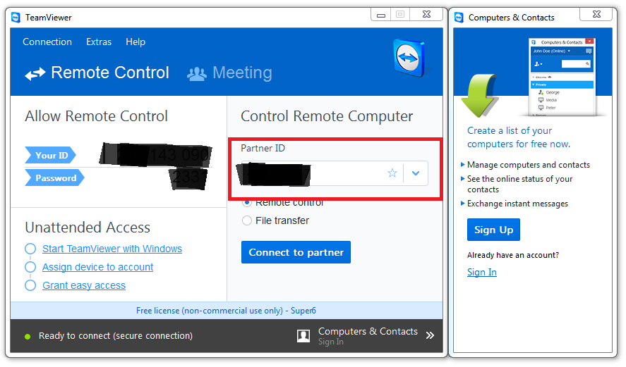 Xybernetics Remotely Access Mobile Phone Using TeamViewer