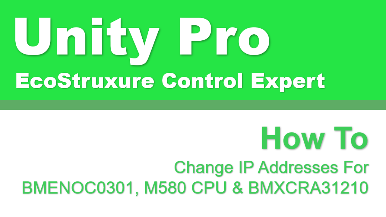 Change IP Address For NOC, CPU And RIO Using Control Expert