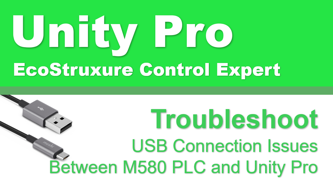 Debugging USB Connection Issue In Schneider Electric Control Expert
