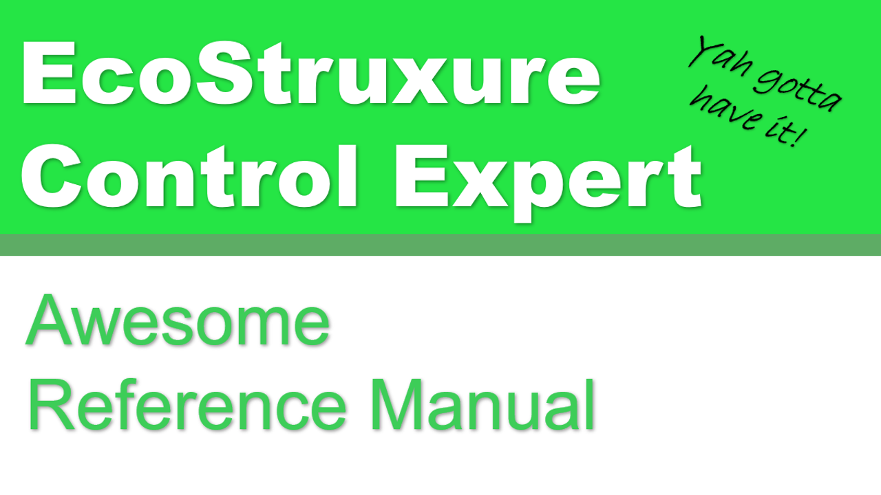 EcoStruxure Control Expert LL984 Editor Reference Manual
