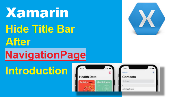 TechTalk - Xamarin : Hide Title Bar