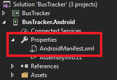 Xybernetics Xamarin Modify Manifest XML File ERR_CLEARTEXT_NOT_PERMITTED Error - AndroidManifest.xml